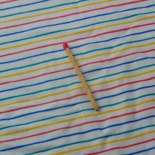 Cupón de jersey a rayas de algodón 150x140 cm