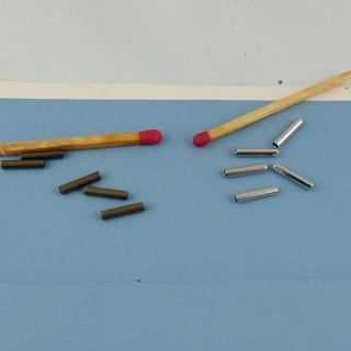 10 Perlas tubo en plástico 11 mm.