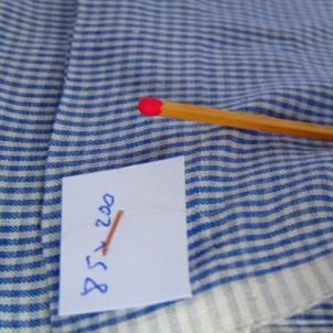 Vichy coupon old cotton 85 x 200 cm