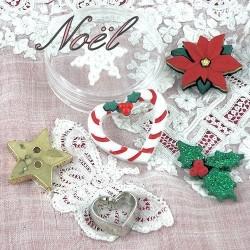 Christmas buttons.