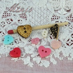 Botón corazón mini