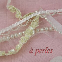 Galón con perlas