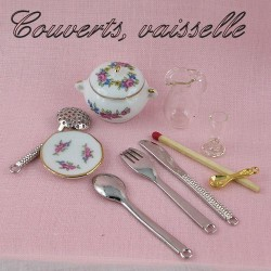 Cutlery, dishes.