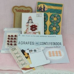 Vintage buttons cards.