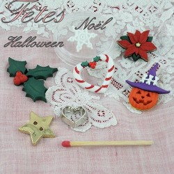 Christmas, hollidays and celebration buttons