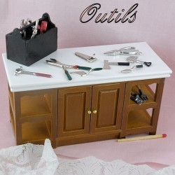 Tools for dollhouse.