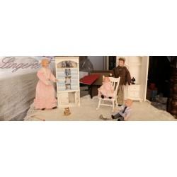 salle de bain, lingerie, buanderie maison de poupée