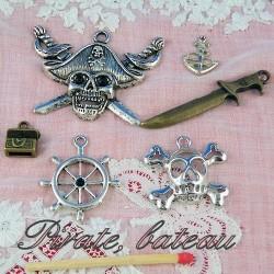 Pirates, corsaires, marin, bateau.