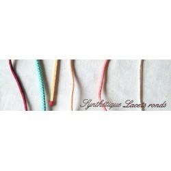 Materiales sintéticos planos de cordones, joyería.