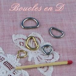 Tiny D buckles, Half ring, Metal D ring