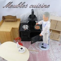 Meubles Cuisine miniatures maison de poupée.