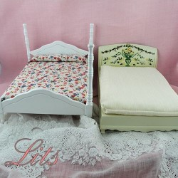 King size bed doll miniature