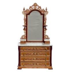Vanity with stool miniature dollhouse furniture
