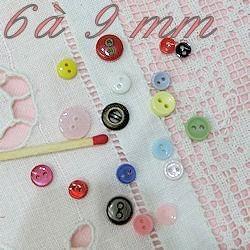Botones planos de 6 a 9 mm