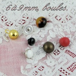 6 to 9 mms shank buttons.