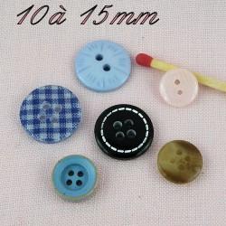 Botones llanos 6 mm - 9 mm
