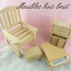 Möbel rohes Holz