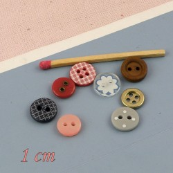 Boutons 10 mm 1cm
