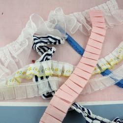 Bord plissé ruban