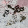 Key, charms, miniature for doll.